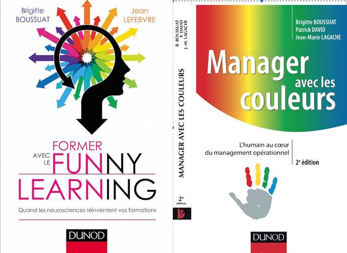 Couverture du livre Manager avec les couleurs / Former avec le funny learning